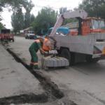 Проводятся работы по ремонту автодороги и тротуара по ул. Трамвайной от ул. Павших Коммунаров до пр. Дзержинского