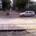 Начаты работы по благоустройству пр. Садового от ул. Постышева до ул. Челюскинцев