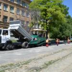 Продолжение работ по ул. Трамвайной