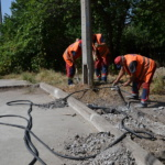Восстановление лотка по отводу ливневых вод на пересечении пр. Ватутина и ул. Ермощенко