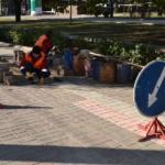 Ремонт мощения плитки ФЭМ по ул. Артёма