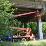Восстановление защитного слоя бетона путепровода по ул. Петровского