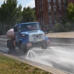 Летняя механизированная уборка автодорог