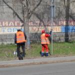 Окраска стоек дорожных знаков