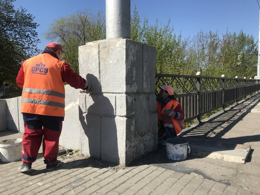 Расчистка выпуска ливневой канализации, текущий ремонт искусственных сооружений