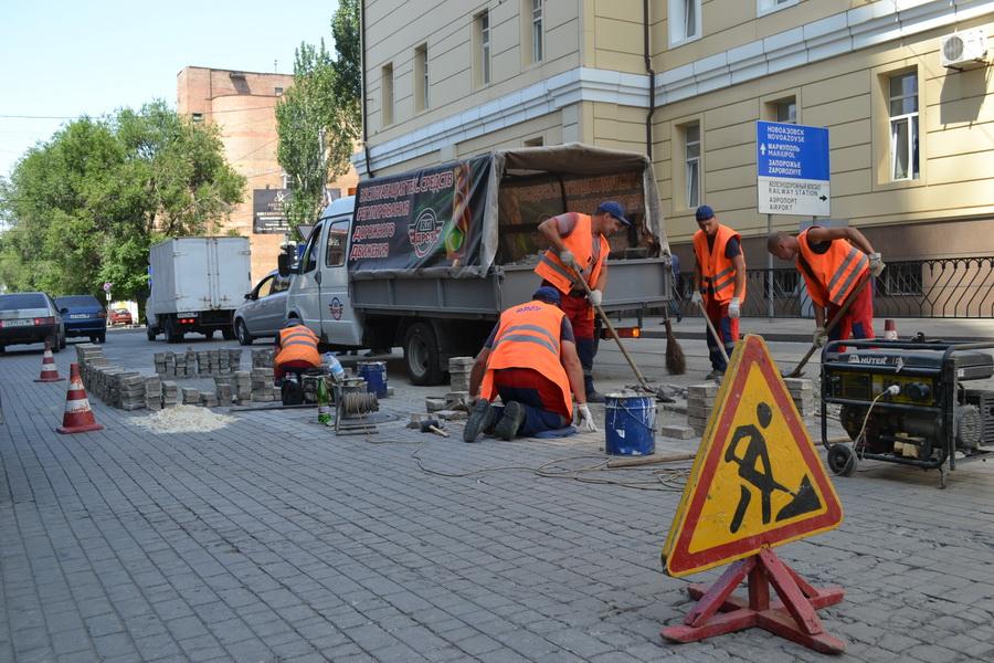 Восстановление асфальтобетонного покрытия после ремонта подземных коммуникаций и ремонт мощения плитки  ФЭМ