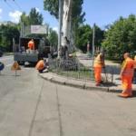 Установка направляющих пешеходных ограждений